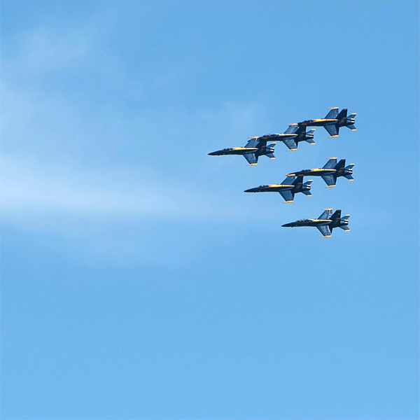 Blue Angels over Loyola's Campus